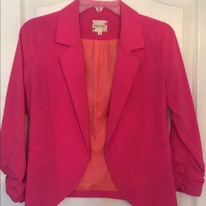 Hot pink cropped blazer